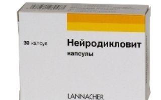Нейродикловит — инструкция по применению, состав