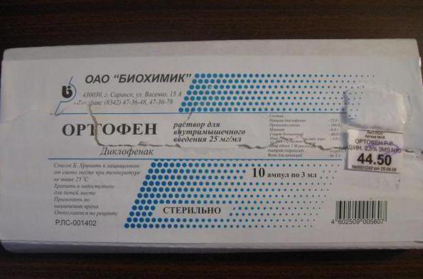 Уколы Ортофен: инструкция, цена, показания к применению