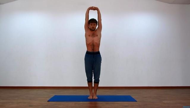 Выполнение гимнастики по методу Шрот при сколиозе