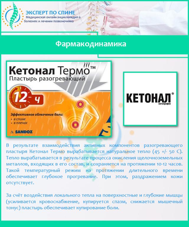 Пластырь Кетонал Термо: инструкция по применению, цена