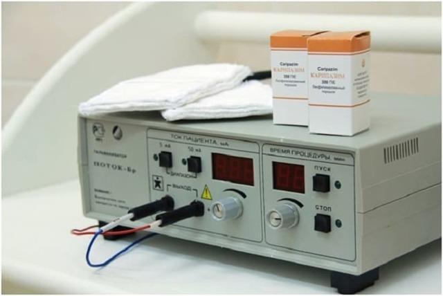Методика лечения грыжи электрофорез с карипаином