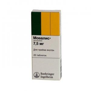Таблетки Мовалис: инструкция по применению, цена
