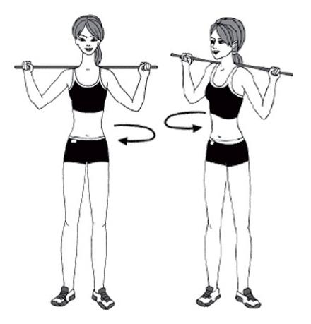 Упражнения с гимнастической палкой для осанки