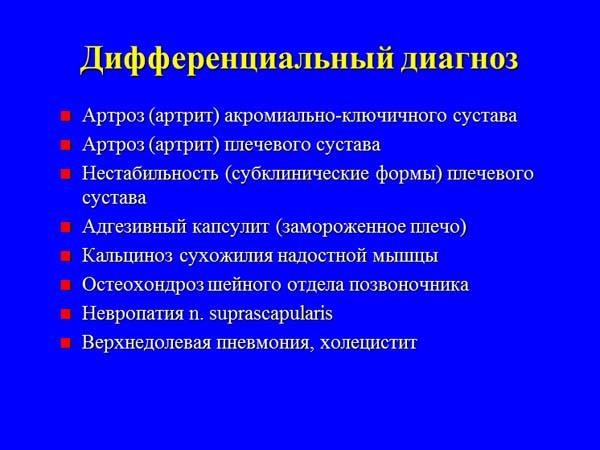 Импиджмент синдром левого плечевого сустава